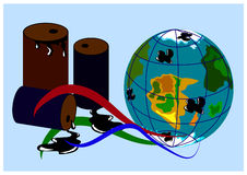 Ecology Infographic 2. The global problem of environmental pollution by oil products and chemicals Stock Photos