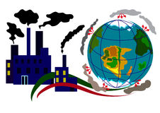 Ecology Infographic 3. The global problem of increasing greenhouse gas emissions into the atmosphere Stock Photos