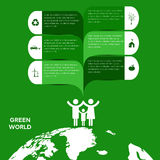 Ecology infographic Royalty Free Stock Image