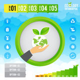 Ecology infographic and presentation Royalty Free Stock Images