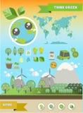 Ecology Infographic. Renewable, sustainable energy stock illustration