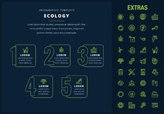 Ecology infographic template, elements and icons. Ecology options infographic template, elements and icons. Infograph includes line icon set with resources of Stock Photo