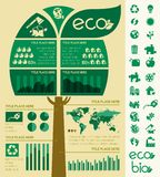 Ecology Infographic Template. Royalty Free Stock Photography