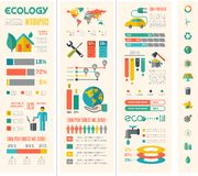 Ecology Infographic Template. Royalty Free Stock Photos