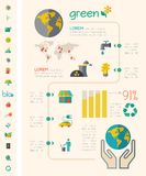 Ecology Infographic Template. Royalty Free Stock Photo