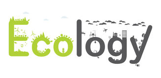 Ecology Infographic text. royalty free stock images