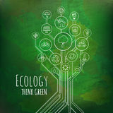Ecology Infographic. Think Green Royalty Free Stock Photography