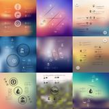 Ecology infographic with unfocused background Royalty Free Stock Photos
