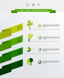 Ecology infographic vector flat illustration Stock Images