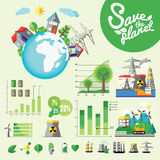 Ecology Infographic, vector illustration Stock Image