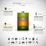 Ecology infographic Royalty Free Stock Photo