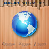 Ecology infographics background Royalty Free Stock Image