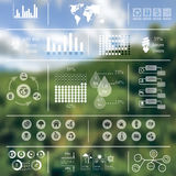 Ecology Infographics blurred background Royalty Free Stock Photography