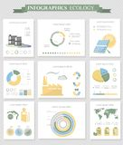 Ecology infographics collection Stock Images