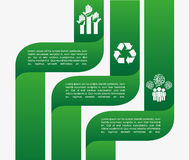 Ecology infographics. Design,  illustration eps10 graphic Royalty Free Stock Photos