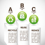 Ecology infographics. Design, vector illustration eps10 graphic Royalty Free Stock Photos