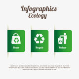 Ecology infographics. Design, vector illustration eps10 graphic Royalty Free Stock Photo