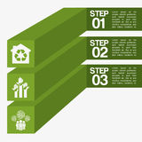 Ecology infographics. Design, vector illustration eps10 graphic Royalty Free Stock Photography