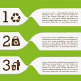 Ecology infographics. Design, vector illustration eps10 graphic Stock Images