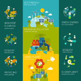 Ecology infographics flat web site concept template Royalty Free Stock Images