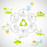 Ecology Infographics. Illustration of ecology infographics with chat bubble Royalty Free Stock Photos