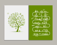 Ecology infographics, sketch for  design Royalty Free Stock Images