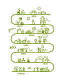 Ecology infographics, sketch for  design Royalty Free Stock Photography
