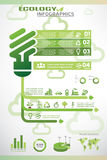 Ecology infographics, vector icons collection Royalty Free Stock Photo