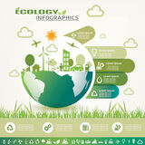 Ecology infographics, vector icons collection Stock Photos