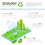 Ecology Infographics World Environmental Protection Green Energy Concept Banner With Copy Space Royalty Free Stock Images
