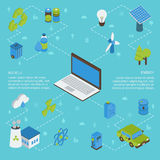 Ecology Isometric Infographics Royalty Free Stock Images