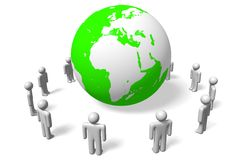 Ecology issues, recycling, environment Stock Images