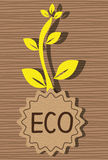 Ecology label graphic Royalty Free Stock Image