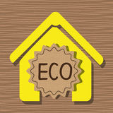 Ecology label graphic Royalty Free Stock Photography