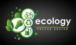 Ecology label Stock Image