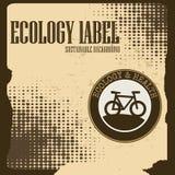 Ecology label Stock Photography