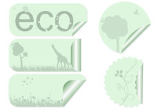 Ecology Labels Stock Photo