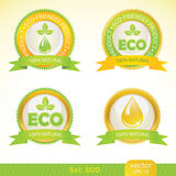 Ecology labels Royalty Free Stock Image