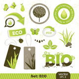 Ecology labels Royalty Free Stock Photos