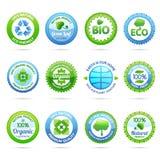 Ecology Labels Set Royalty Free Stock Photo