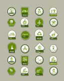 Ecology labels, set for your design Royalty Free Stock Images