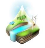 Ecology landscape natural concept vector design Stock Image