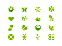 Ecology leaves and symbols Stock Images