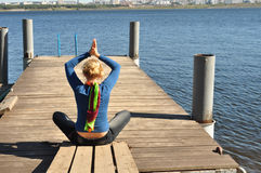 Ecology leisure, yoga, relax and meditation Royalty Free Stock Image