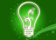 Ecology light bulb. Illustration of an ecological light bulb Royalty Free Stock Photo