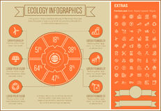 Ecology Line Design Infographic Template Royalty Free Stock Photography
