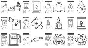 Ecology line icon set. Ecology vector line icon set isolated on white background. Ecology line icon set for infographic, website or app. Scalable icon designed Royalty Free Stock Image