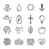 Ecology line icons Royalty Free Stock Photos