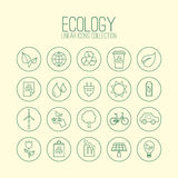 Ecology Linear Icons Stock Image