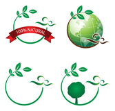 Ecology logo. Illustration of ecology logo on white background Royalty Free Stock Image